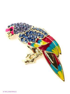 Брошь Lovely Jewelry. Цвет: синий, красный, желтый