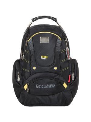 Рюкзак Across. Цвет: черный, горчичный