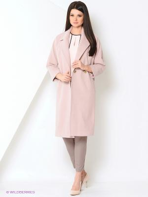 Пальто Stilla. Цвет: бледно-розовый