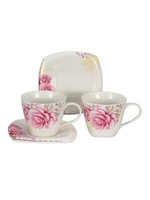 Набор чайный 4 предмета 220 мл PATRICIA. Цвет: розовый