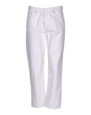 Джинсовые брюки WOOD. Цвет: белый