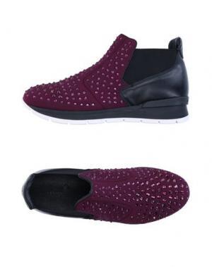 Высокие кеды и кроссовки JANET SPORT. Цвет: баклажанный