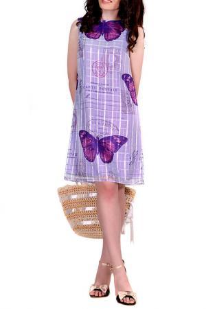 Платье MONT PELLIER. Цвет: фиолетовые бабочки