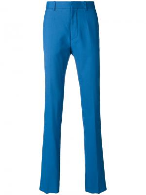 Классические плиссированные брюки Marni. Цвет: синий