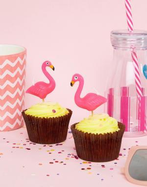 Sunnylife Свечи на день рождения в виде фламинго. Цвет: мульти