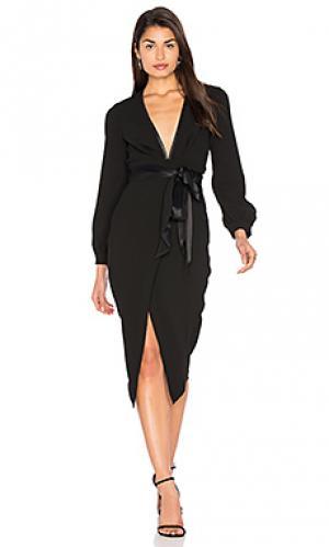 Миди платье с длинным рукавом roosevelt BEC&BRIDGE. Цвет: черный