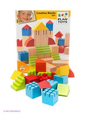 Конструктор Блоки PLAN TOYS. Цвет: голубой