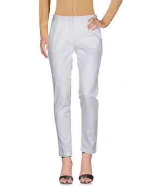 Повседневные брюки PERFECTION. Цвет: белый