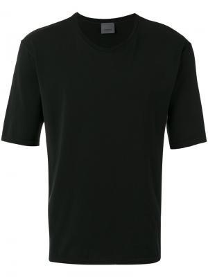 Классическая футболка Laneus. Цвет: чёрный