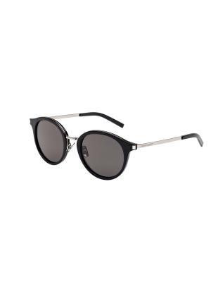 Солнцезащитные очки Saint Laurent. Цвет: темно-серый, черный