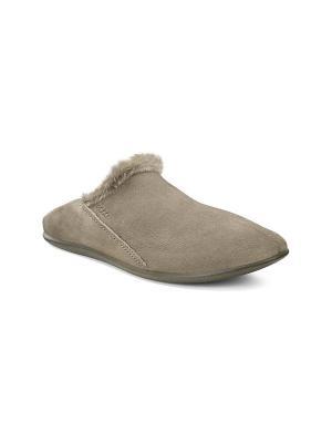 Домашняя обувь ECCO. Цвет: коричневый