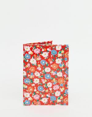 Cath Kidston Обложка для паспорта с пестрым принтом. Цвет: красный