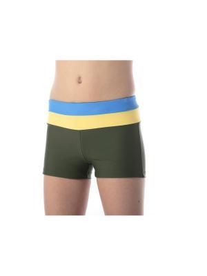 Плавки KICKERS. Цвет: темно-зеленый, голубой, желтый