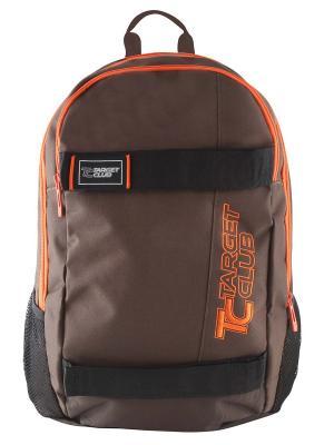 Рюкзак Mono Target. Цвет: темно-коричневый, рыжий