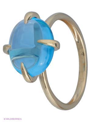 Кольцо JV ДЖЕЙ ВИ. Цвет: золотистый, голубой