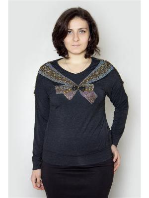 Блузка Vanrica Fashion. Цвет: черный