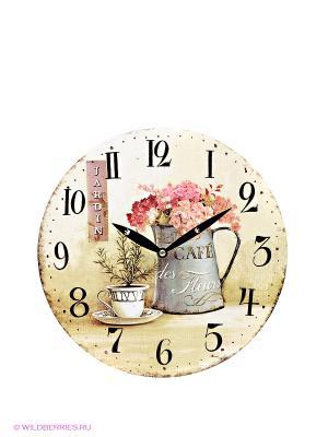 Часы настенные Mitya Veselkov. Цвет: черный, кремовый, персиковый