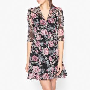 Платье из вуали с рисунком Эксклюзив Brand Boutique THE KOOPLES. Цвет: черный