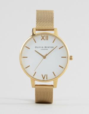 Olivia Burton Часы с сетчатым ремешком OB15BD84. Цвет: золотой