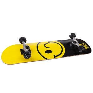 Скейтборд в сборе детский  Smiley Happy Yellow/Black 7.5 (19.1 См) Fun4U. Цвет: черный,желтый