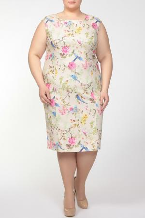 Платье Verpass. Цвет: бежевый, цветной