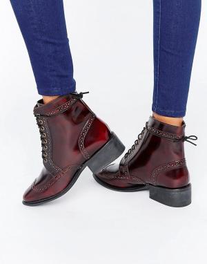 ASOS Кожаные ботинки-броги на шнуровке AMAR. Цвет: коричневый