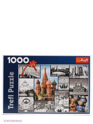 Пазл Москва - коллаж Trefl. Цвет: серый