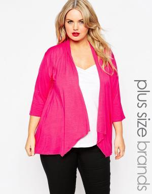 Gemma Collins Трикотажное кимоно. Цвет: розовый