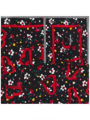 Шарф с цветочным принтом Marc Jacobs. Цвет: чёрный
