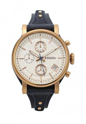 Часы Fossil. Цвет: синий