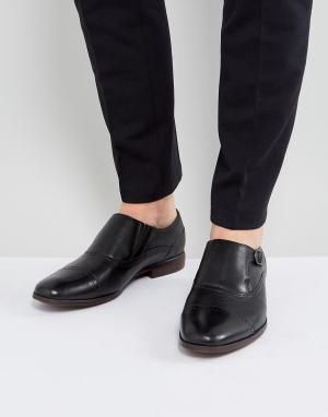 ALDO Черные броги-монки Ales. Цвет: черный