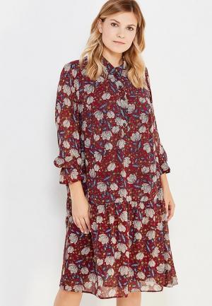 Платье Intikoma. Цвет: бордовый
