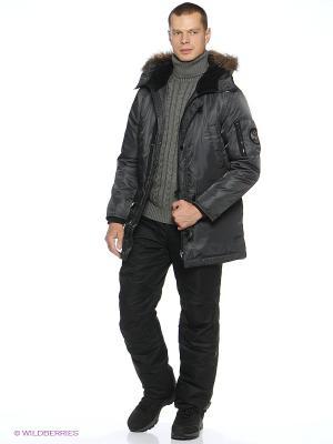 Куртка утепленная Forward. Цвет: серебристый