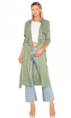 Тренчкот january YFB CLOTHING. Цвет: зеленый