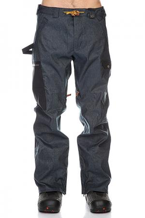 Штаны сноубордические  Upland Pants Indigo Denim Analog. Цвет: синий