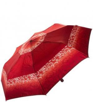 Красный зонт с куполом из сатина Doppler. Цвет: красный