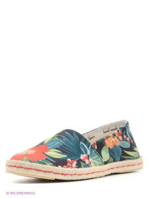 Эспадрильи Shoe the Bear. Цвет: синий, морская волна, красный