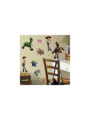 Наклейки для декора. История игрушек 3 ROOMMATES. Цвет: белый, черный, синий, зеленый, серый, голубой, красный, оранжевый, желтый
