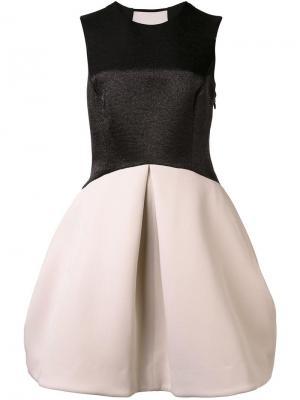 Платье с прозрачной спинкой Halston Heritage. Цвет: чёрный