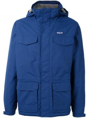 Куртка Isthmus с капюшоном Patagonia. Цвет: синий