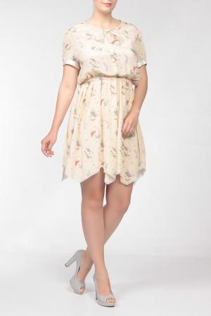 Платье Nina Ricci. Цвет: бежевый
