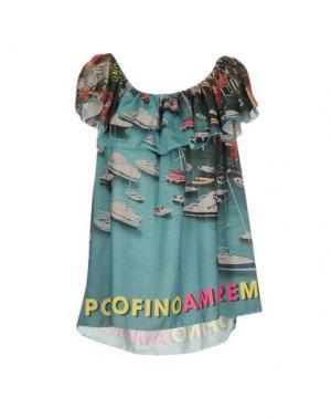 Блузка AU SOLEIL DE SAINT TROPEZ. Цвет: цвет морской волны