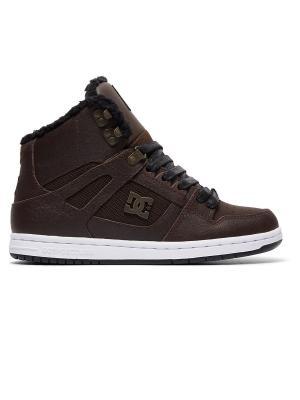 Сникеры DC Shoes. Цвет: темно-коричневый