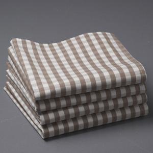 4 салфетки для приборов La Redoute Interieurs. Цвет: серо-коричневый