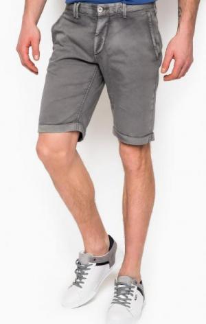 Короткие шорты серого цвета Cycle. Цвет: серый