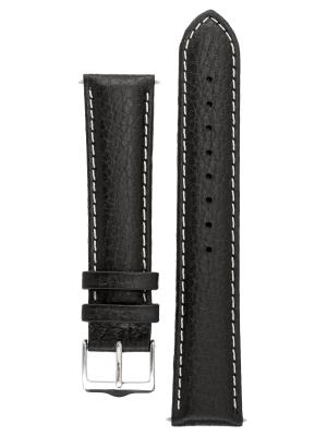 Гипоаллергенный ремешок для часов из кожи теленка с фактурой под буйвола, Ширина от 14 до 24 мм, Signature. Цвет: черный, темно-коричневый