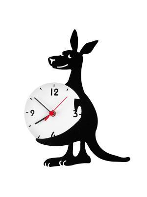 Часы настенные Кенгуру Miolla. Цвет: черный