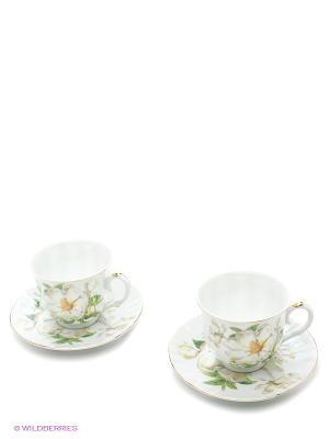 Наборы для чаепития LORAINE. Цвет: белый, зеленый