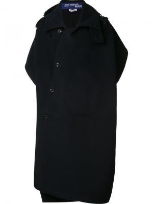 Объемное пальто Junya Watanabe Comme Des Garçons. Цвет: чёрный