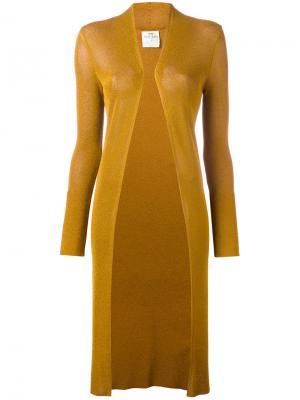Трикотажное пальто Lurex Forte. Цвет: коричневый